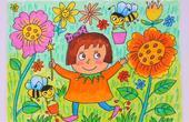 小爱的手作日记 儿童画小兔子和小猫