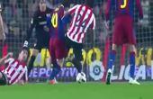 梅西细节脚法,一路防守球员都被晃倒,要过掉多少人才肯射门?