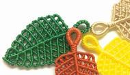 「创意手工diy」绳编叶子图案的简单过程(步骤2-1)图片
