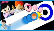 冰壶吸椹m�yam�b-�/g9f_趣味瓶盖冰壶比赛   凯文和游戏 kevinandplay