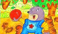 打的故事_儿童画场景故事 爱打洞的小鼹鼠