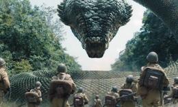 原始丛林中生活着一条超大巨蟒,雇佣兵看到也吓得尿裤子!