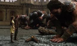 体型巨大的巨人残忍嗜杀,但是带上魔法王冠就可以控制巨人!