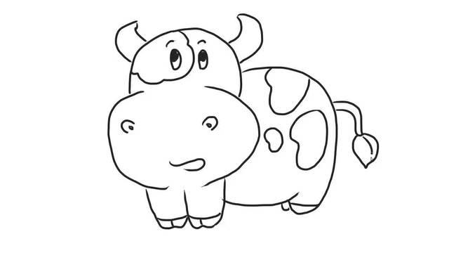 奶牛儿童亲子简笔画 宝宝轻松学画画
