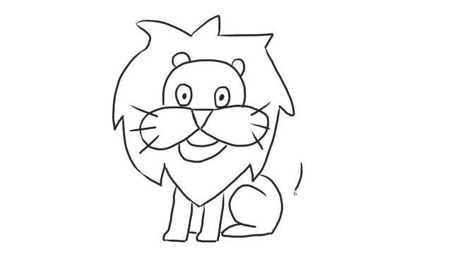 宝宝轻松学画画 8狮子简笔画,萌萌的小狮子画法,为了孩子快来看一看图片