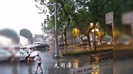苏州大雨中的日全食