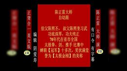 陈氏太极拳老架一路 正背合一 英文版 陈正雷大师演示 编辑阴爱寿