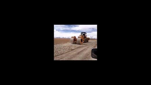 梅花碾(中航)冲击式压路机冲击压实碾压施工教学视频