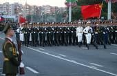 中國男神天團亮相白俄閱兵
