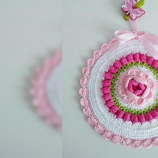 钩针花朵系列 立体玫瑰花的钩法2 新手零基础 钩针立体花朵 有图解