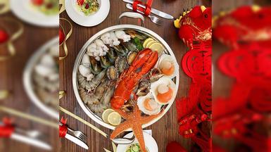 【味库海鲜】鲜活波士顿龙虾鲜贝套餐(1-3人)