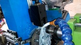 固峰液压全自动钻孔机  钻横孔加工视频