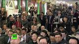 20150508 俄罗斯总统普京和中国主席习近平会谈现场并发表联合声明