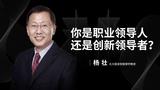一刻 | 杨壮:你是职业领导人,还是创新领导者?
