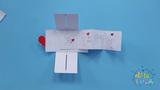 嘟拉手工绘画 手工惊喜卡片,折纸小人Q版画像!