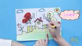 嘟拉手工绘画 儿童手工与绘画,一副蝴蝶画!