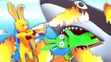 橡皮人大乱斗 新版本可以用喷火枪烤屌德斯和大鲨鱼 小熙屌德斯