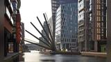 这桥会变魔术,像折叠扇,一堆人不为过河专看它表演