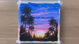手工绘画教程,热带树林风景画的制作方法!