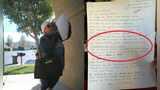 美国白人大妈写信贴亚裔住户家门:麻溜地滚回老家,给白人腾地方