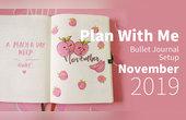 粉嫩蜜桃风的11月手帐!
