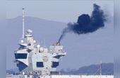 英第二艘航母海試黑煙滾滾