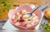 小羽私厨之蜜桃冰麻薯