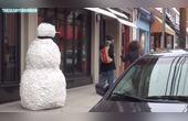 国外恶搞,吓人的雪人又来了,第15期