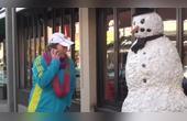 国外恶搞,吓人的雪人又来了,第16期