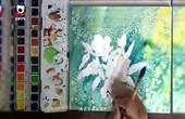 画出来的三色堇,又名蝴蝶花