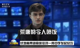 用播新闻的方式解读哈利波特