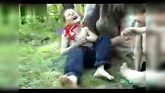 tickle little boys together