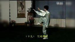 12  40式杨式太极拳第三段示范教学背向演示_标清