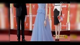 唐嫣冰蓝色长裙优雅亮相 仙气十足