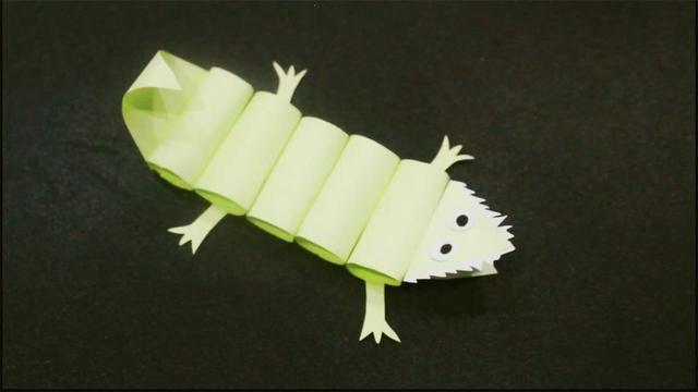 兒童手工制作大全 創意趣味動物鱷魚折紙教程 可愛小動物折紙