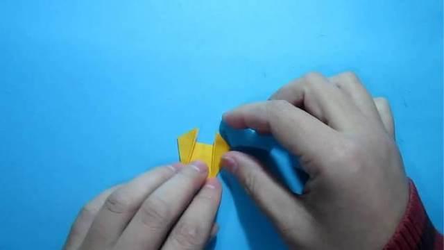 儿童手工折纸:小羊的折法图片