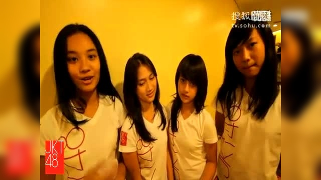 JKT48 members  Seconds to 1st live TV appearance.
