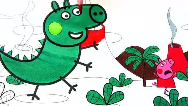 儿童涂鸦简笔画:变大了的猪宝贝