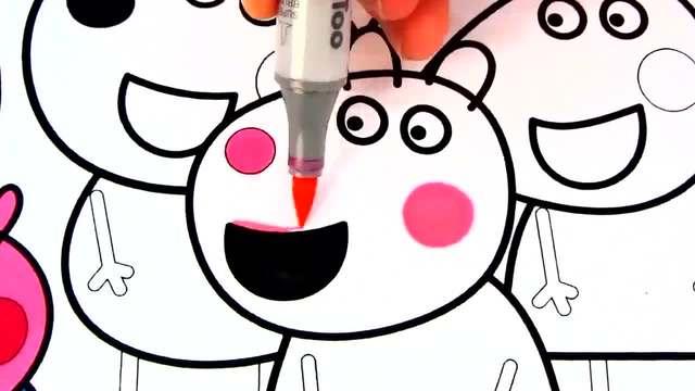 儿童涂鸦简笔画:草地上的小动物玩游戏