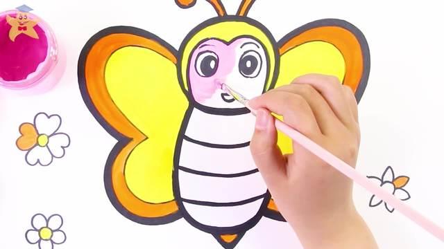 b-53 画出辛勤工作的小蜜蜂图片