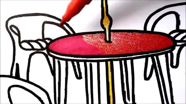 儿童涂鸦简笔画:漂亮的休息座椅绘画