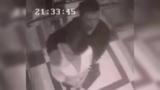 监控器拍下女子街头遭色狼猥亵70秒全程视频