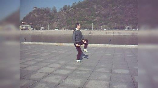 马虹大师弟子刘斌传统陈式太极拳83式晨练 2013年5月13日通化