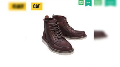 CAT卡特男鞋2017秋新款高帮休闲鞋 马丁靴(专柜正品保证)