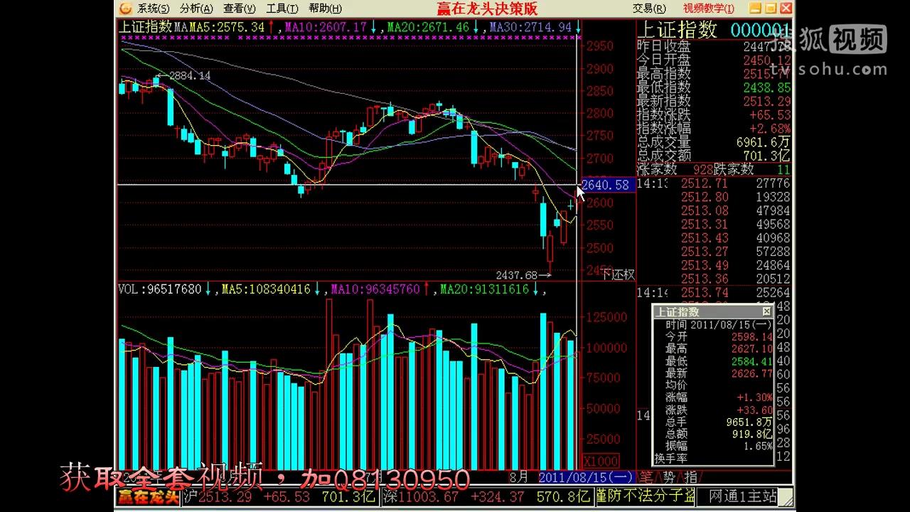 搜狐股市行情_5天赚100万_如何看股票走势图-原创视频-搜狐视频