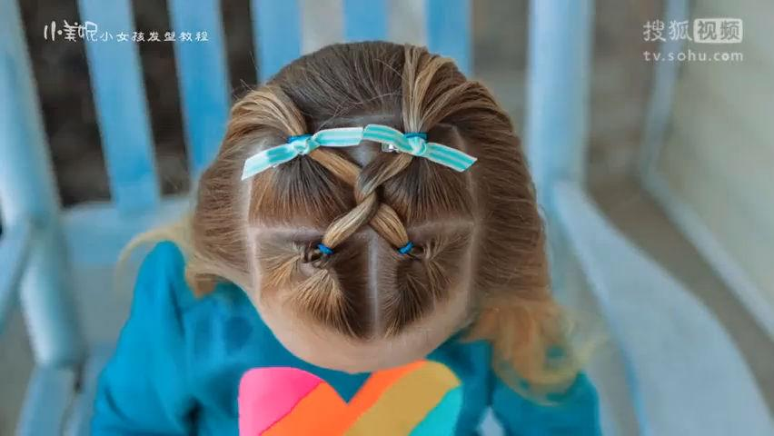 宝宝发型绑扎方法 2岁宝宝短发扎头发大全图片