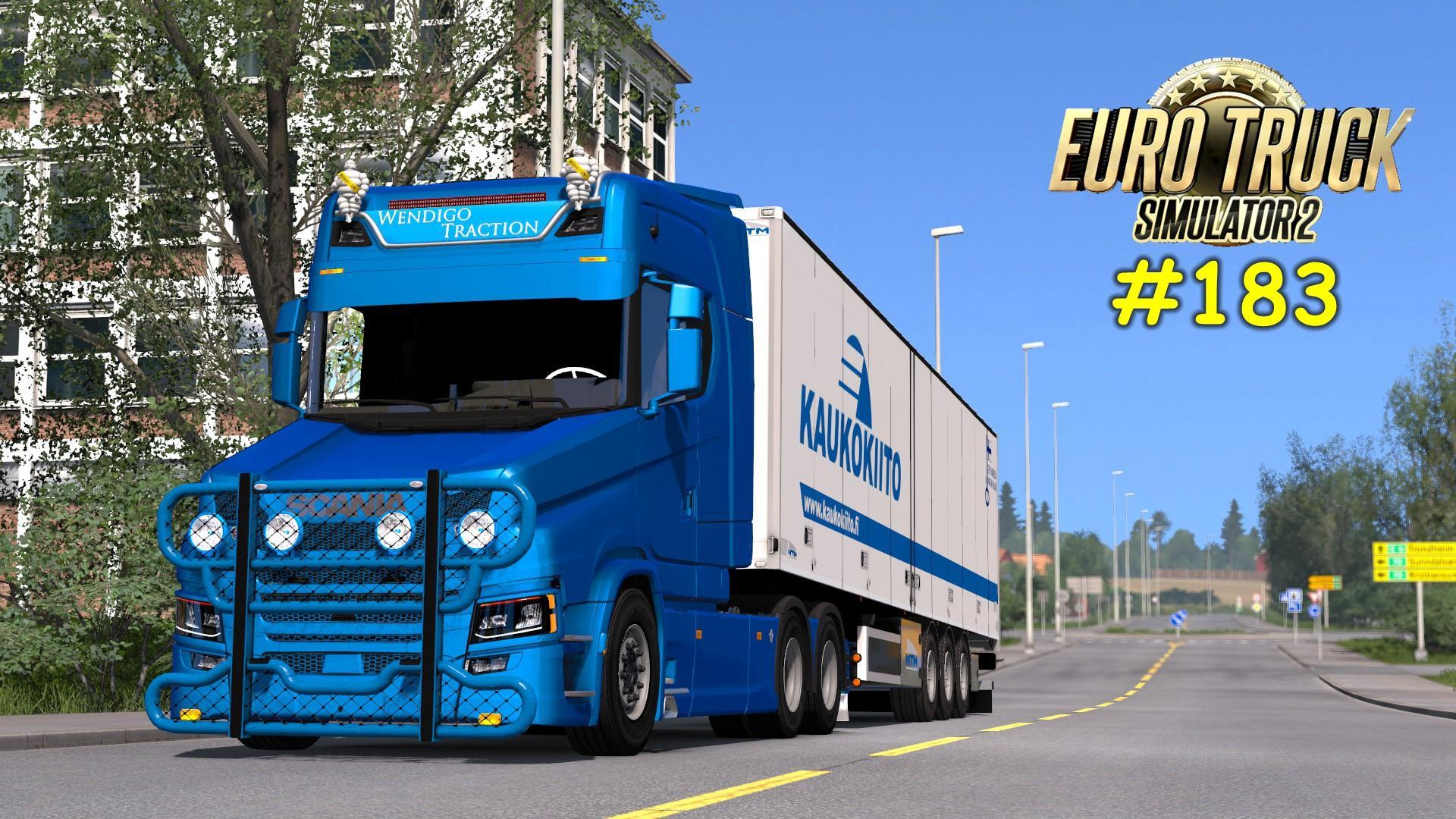 欧洲步骤模拟2#183:斯堪尼亚S730T北欧风光晚上护肤步骤的正确卡车图片